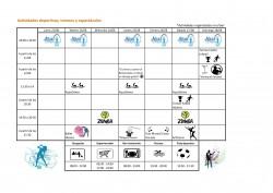 Programación Actividades Deportivas