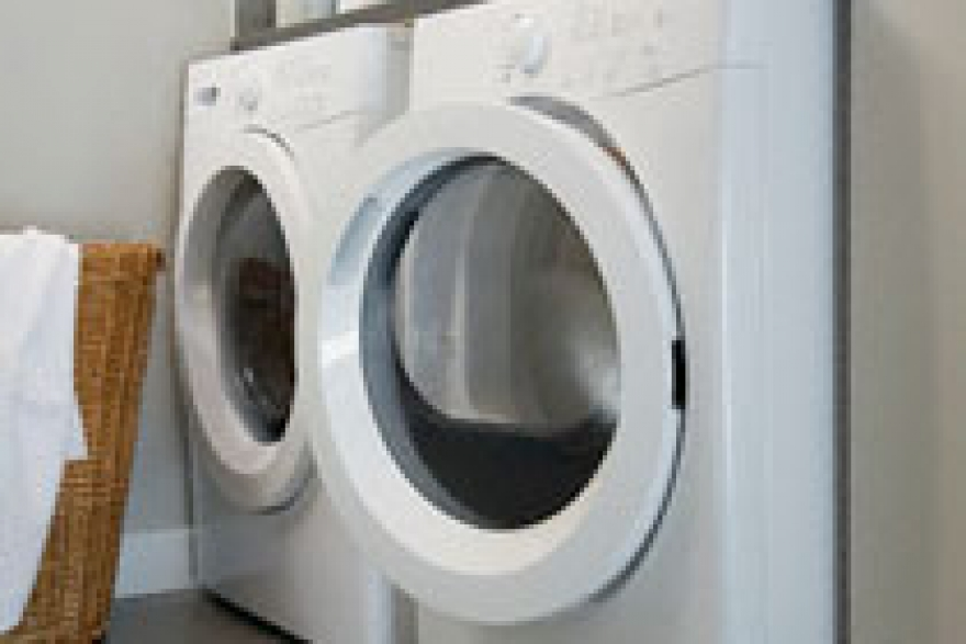Washing machines and ironing boards